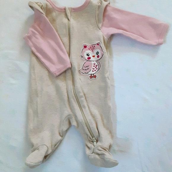 Newborn zip-up footed pajamas
